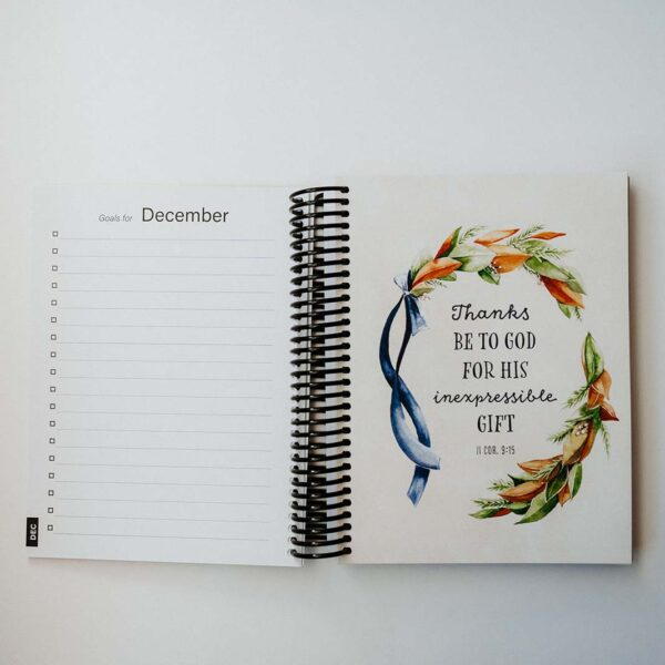 2022 Classic Weekly Planner - December Goals Page