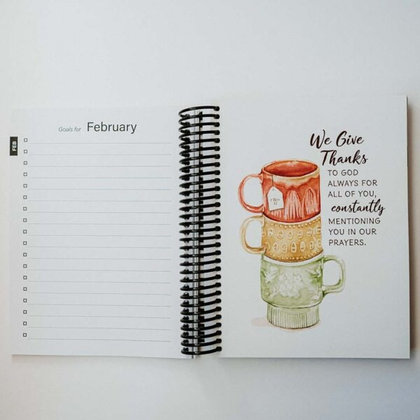 2022 Classic Weekly Planner - February Goals Page