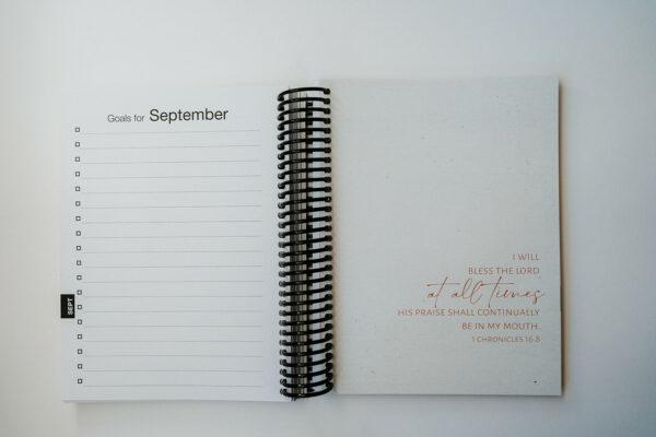 2022 Minimal Weekly Planner - September Goals Page