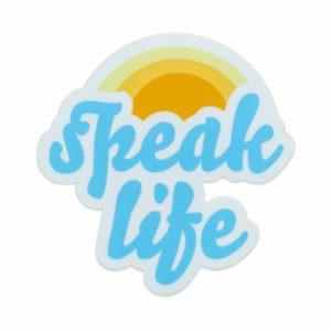 Speak Life Laptop Sticker
