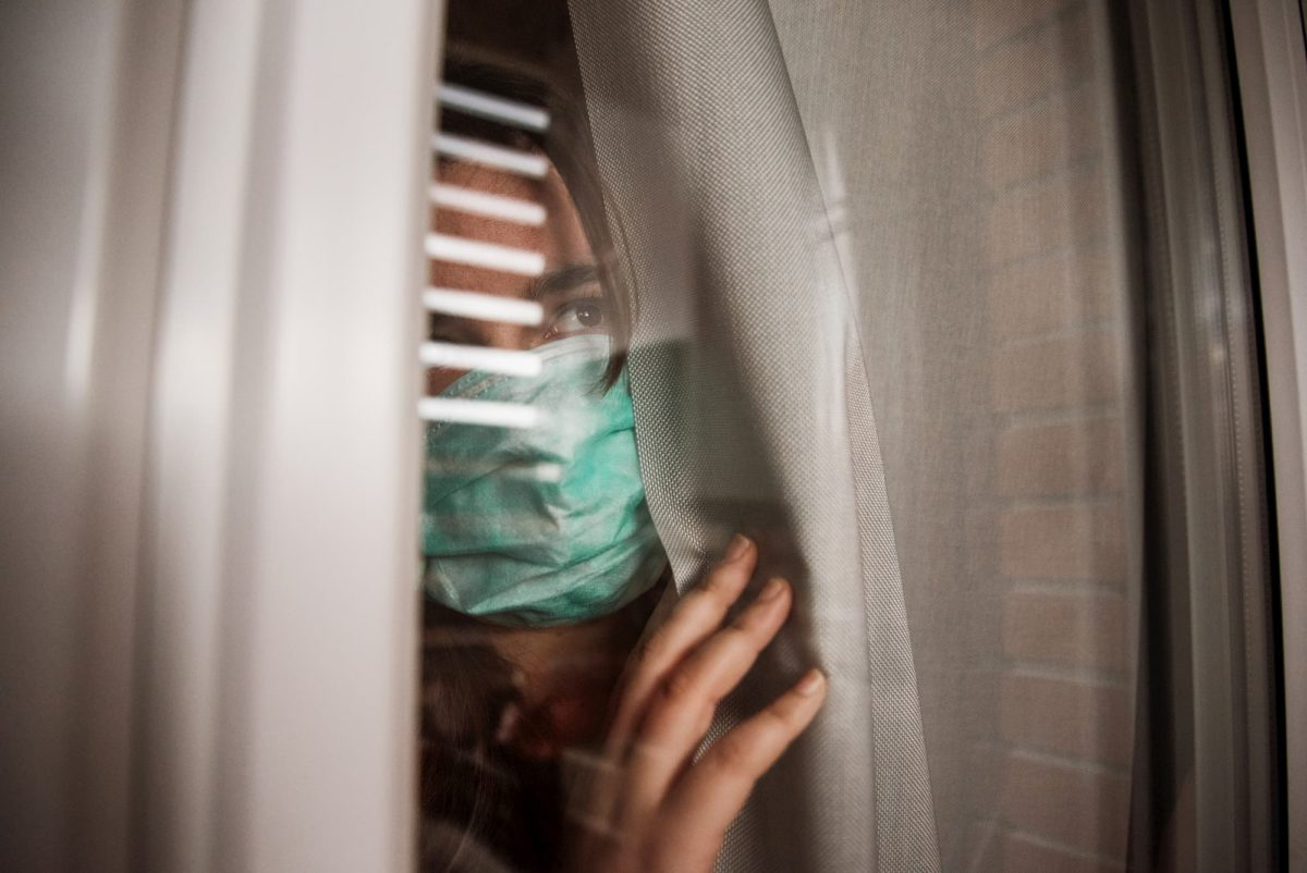 Young Woman Inside House During Quarantine